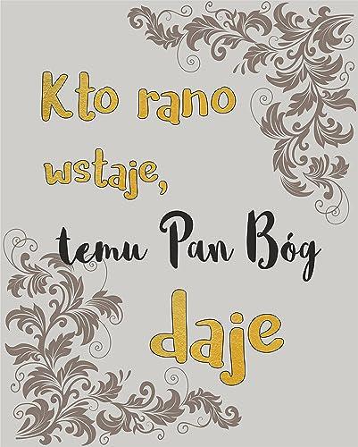 Amazon com: Polish Proverbs for Wall Decor Polish POSTER A3
