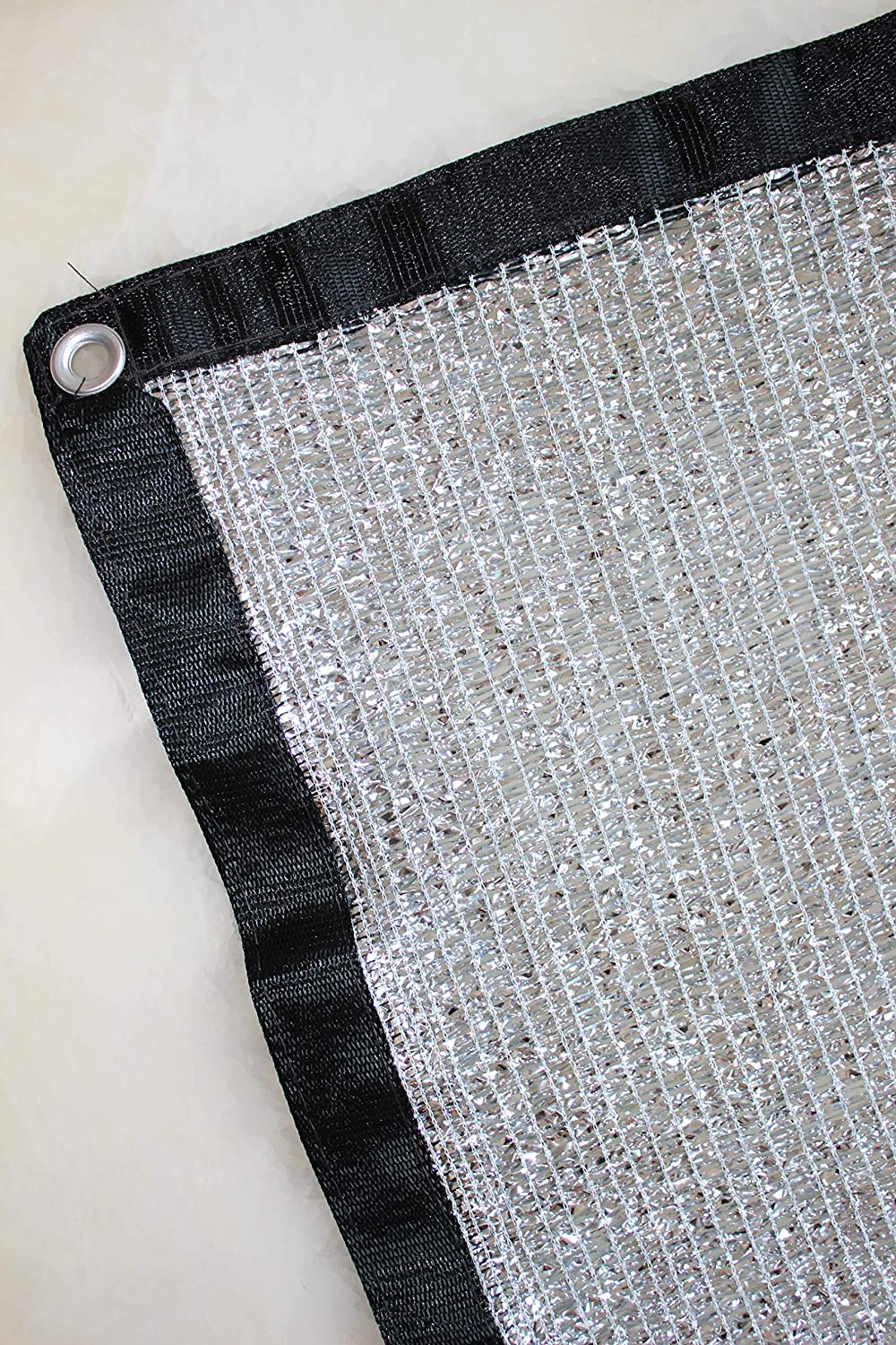 Jesasy 70/% 6.5 ft x 6 ft Aluminet Shade Cloth Panels with Grommets