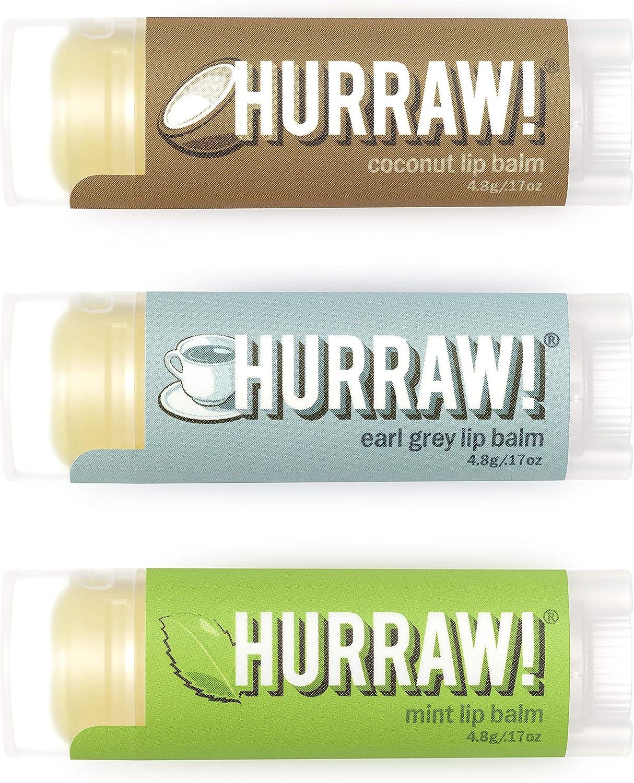 Hurraw! Lip Balms 3-pack: Mint, Earl Grey, & Coconut by Hurraw! Balm: Amazon.es: Salud y cuidado personal