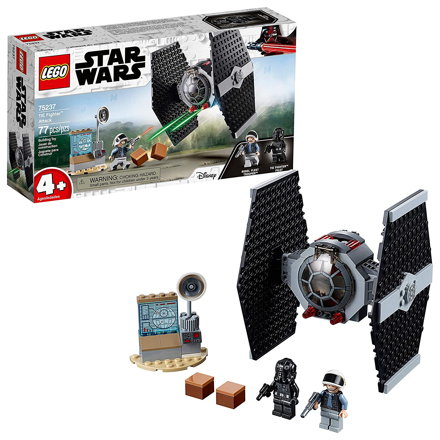 LEGO Star Wars TIE Fighter Attack 75237 4+ Building Kit, 2019 (77 Pieces)