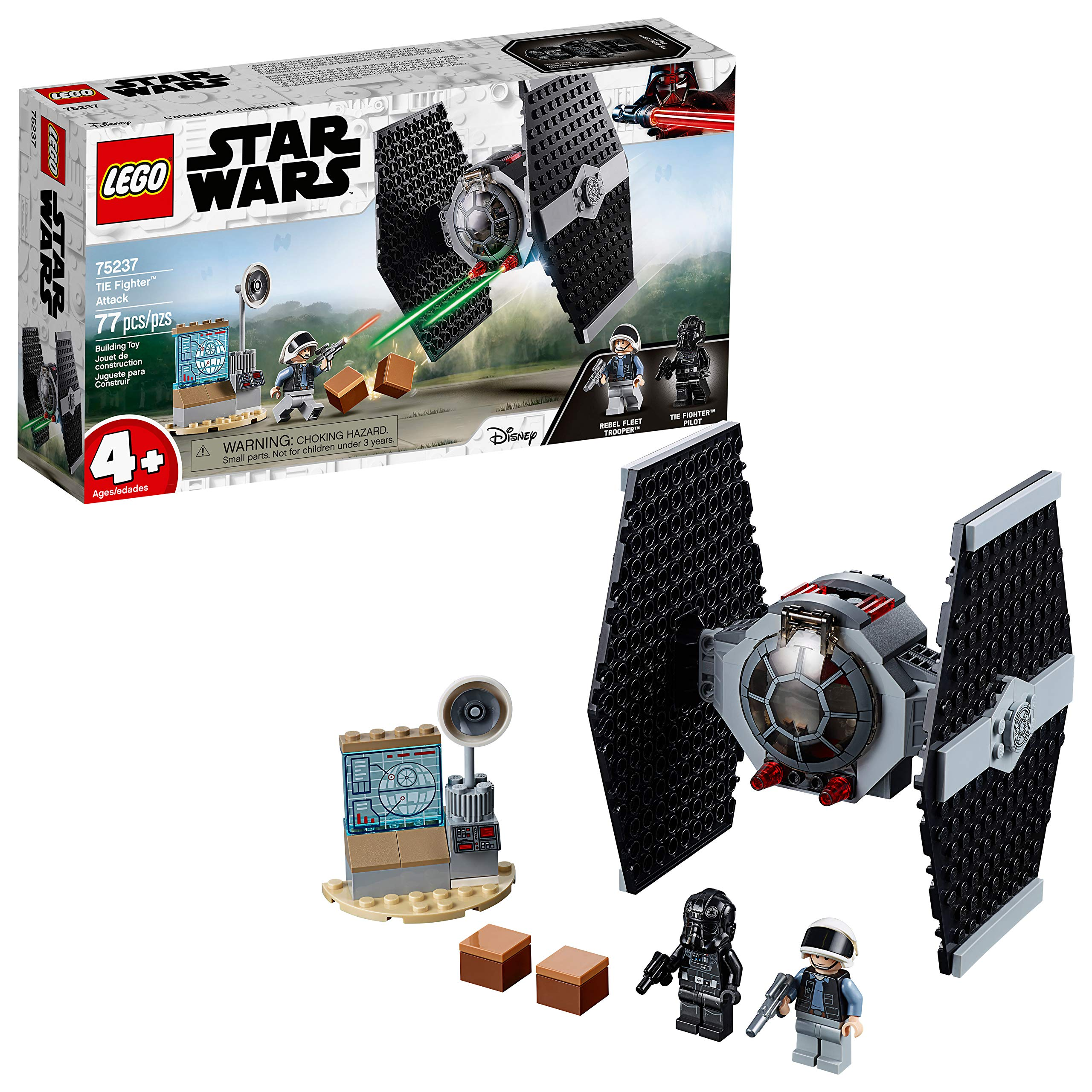 LEGO Star Wars TIE Fighter Attack 75237 4+ Building Kit (77 Pieces)