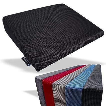 Cojín De Cuña De ESPUMA DE MEMORIA Para Soporte De Espalda E Impulsor De Altura – Cobertor Lavable