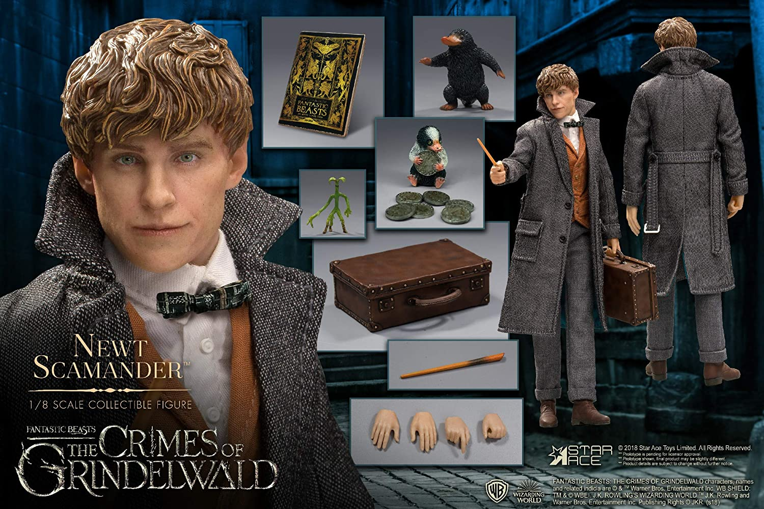 Newt Scamander 1:8 Scale Collectible Action Figure The Crimes of Grindelwald Star Ace Toys Fantastic Beasts