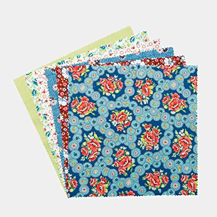Connecting Threads Print Collection Precut Quilting Fabric Bundle Arcadian Dusk - 5 Charm Squares