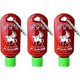 Sriracha Mini Hot Chili Sauce Keychain Bottle 1.69oz,3-pack (Shipped Empty)