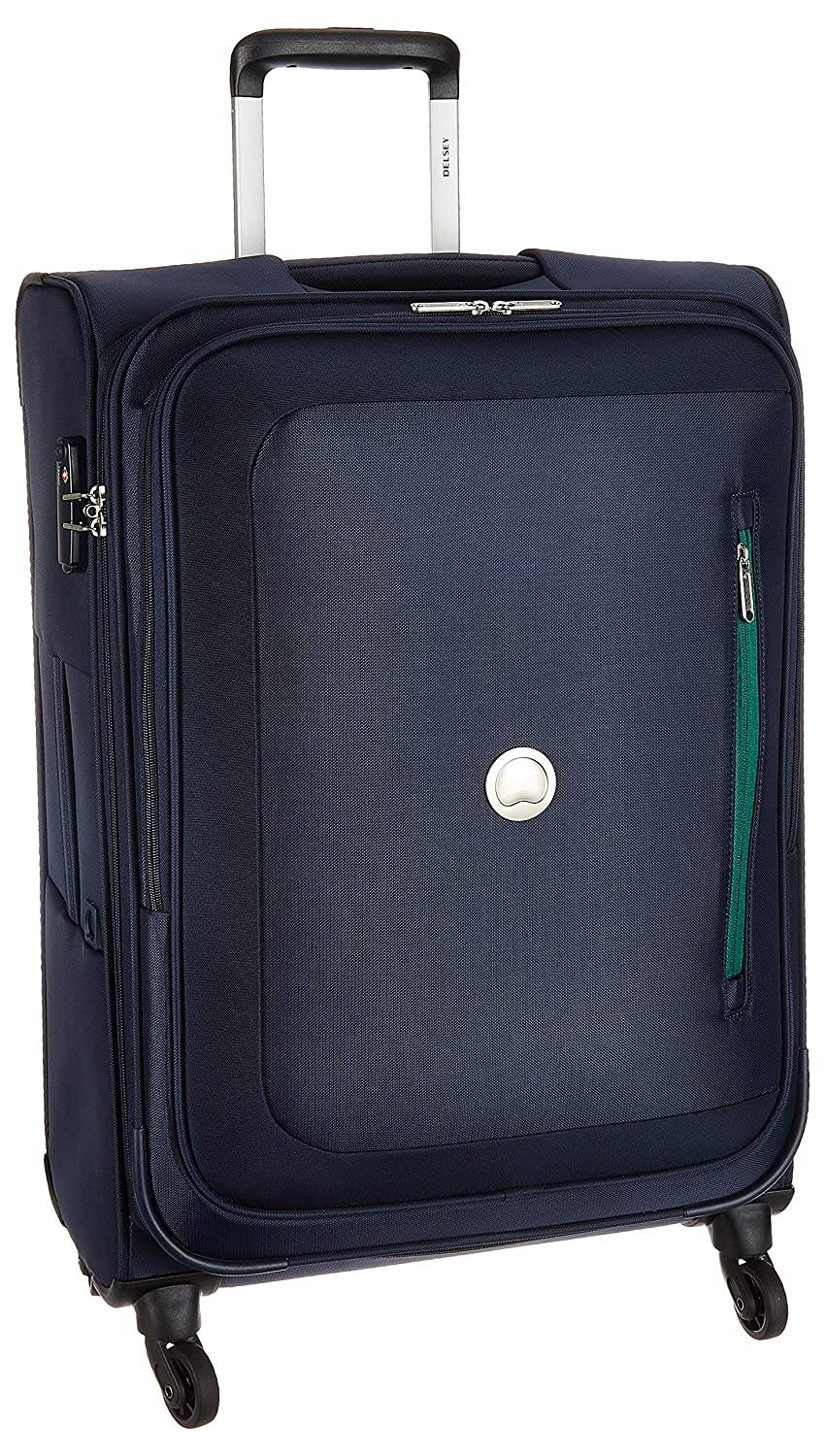 Delsey Polyester 68 cms Navy Blue Softsided Cabin Luggage