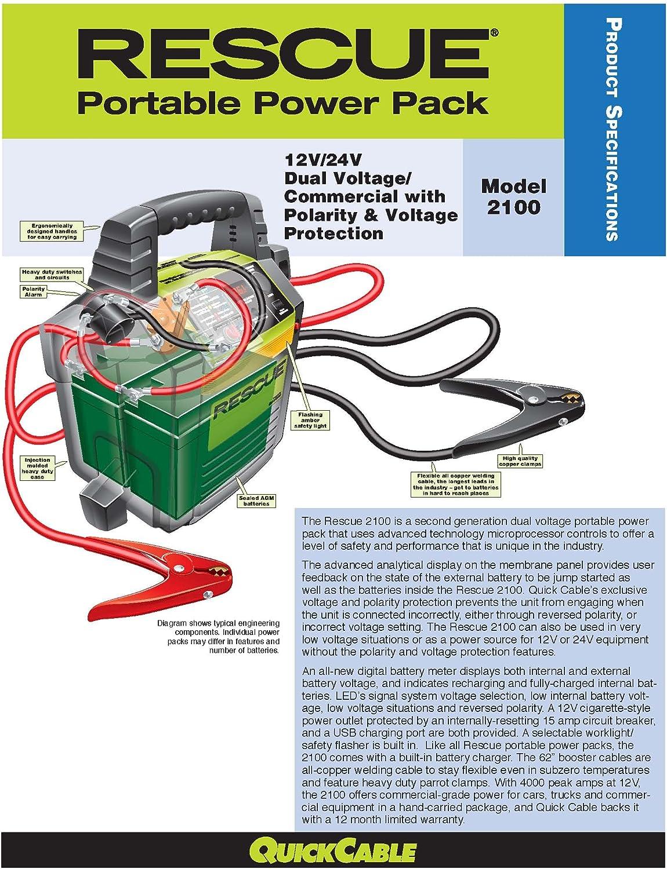 Tools & Equipment Quick Cable Rescue Portable 12/24 Pk 2100 ...
