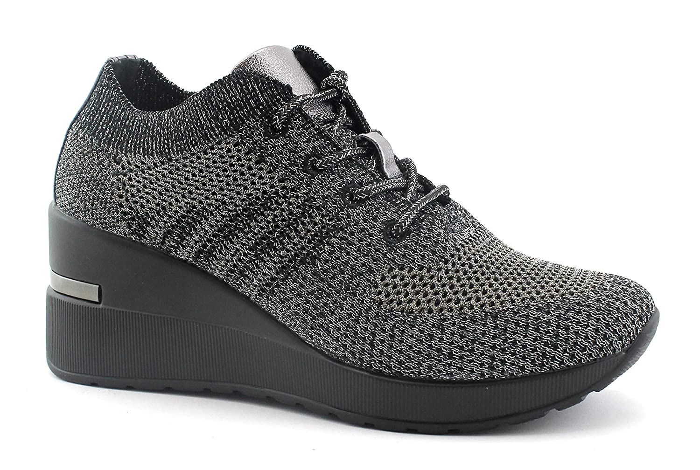 Cinzia Soft Soft Soft MH616530 schwarz grau grau Schuhe Damen Turnschuhe Schnürsenkel Keilabsatz 0088cf