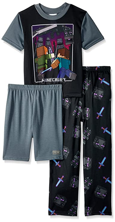Minecraft Big Boys' 3-Piece Pajama Set