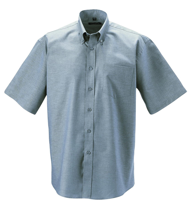 Z933 Kurzärmeliges Oxford Hemd Oberhemd Herrenhemd