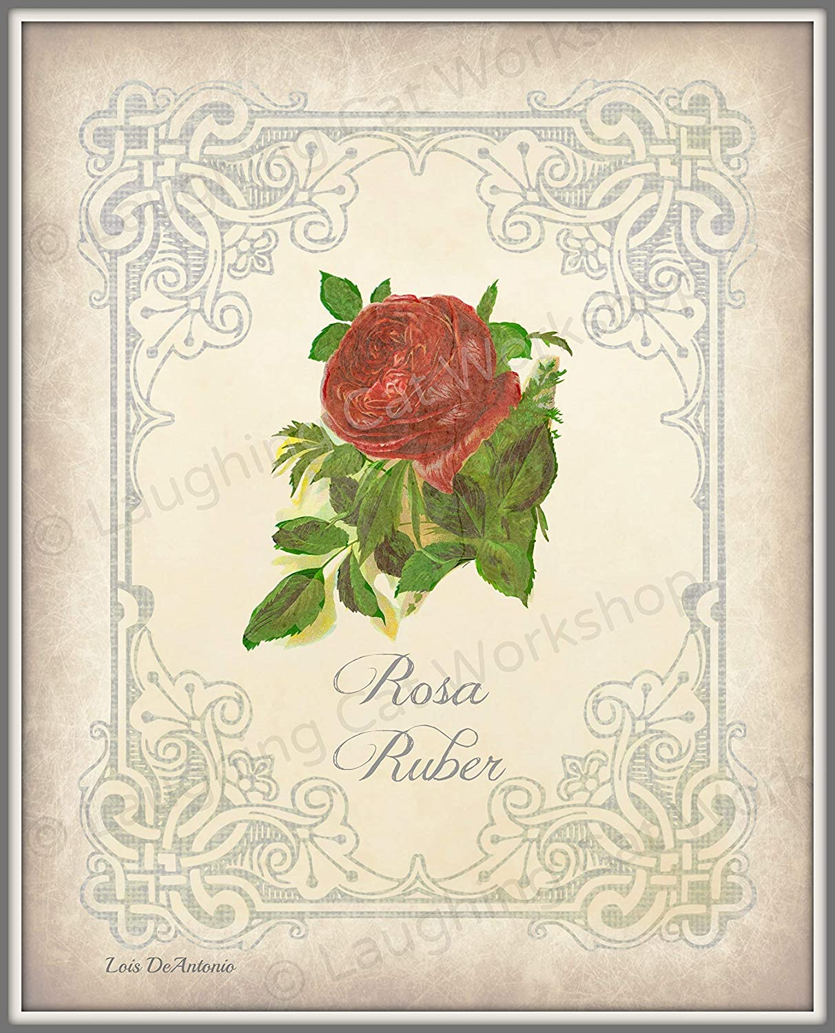 Amazon Com Rose Art Print Flower Bathroom Decor Floral Home Decor