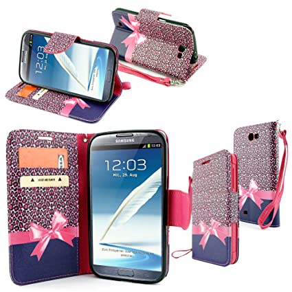 low priced aee24 71268 Customerfirst - Note 2 Case, Samsung Galaxy Note 2 N7100 Case, for Samsung  Galaxy Note 2 N7100, Wallet Pu Leather Carrying Case Cover with Credit Id  ...