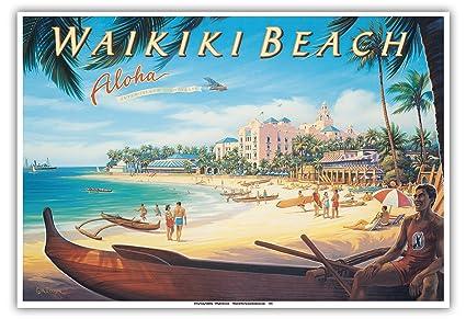 Amazon Com Pacifica Island Art Waikiki Beach Hawaii