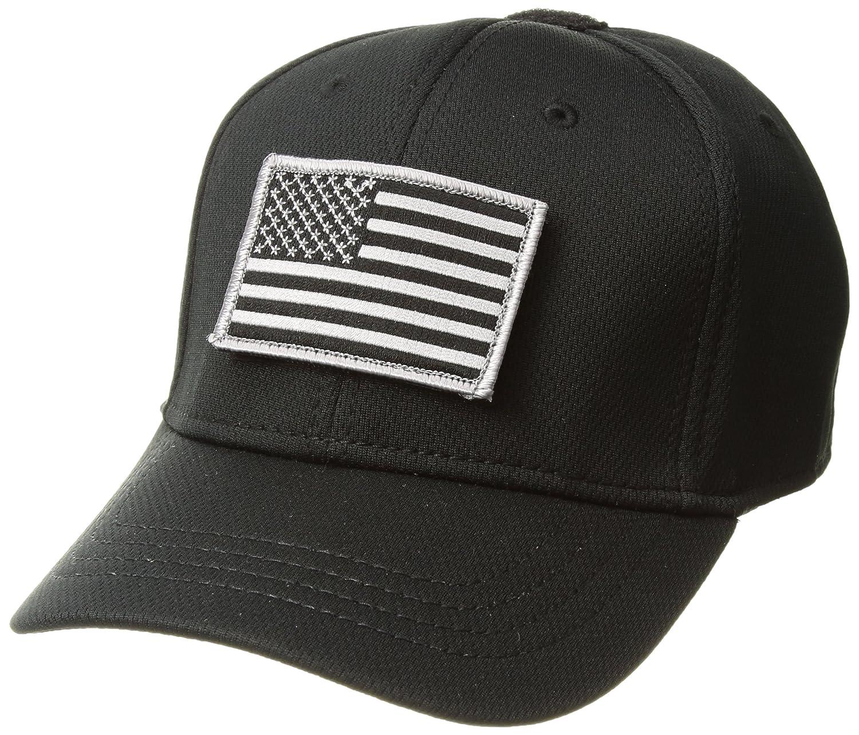 7d39d38a8a42c Amazon.com  Condor Flex Tactical Cap (Black) + FREE Stitched Flag   Warrior  Patch (Small Medium)  Sports   Outdoors