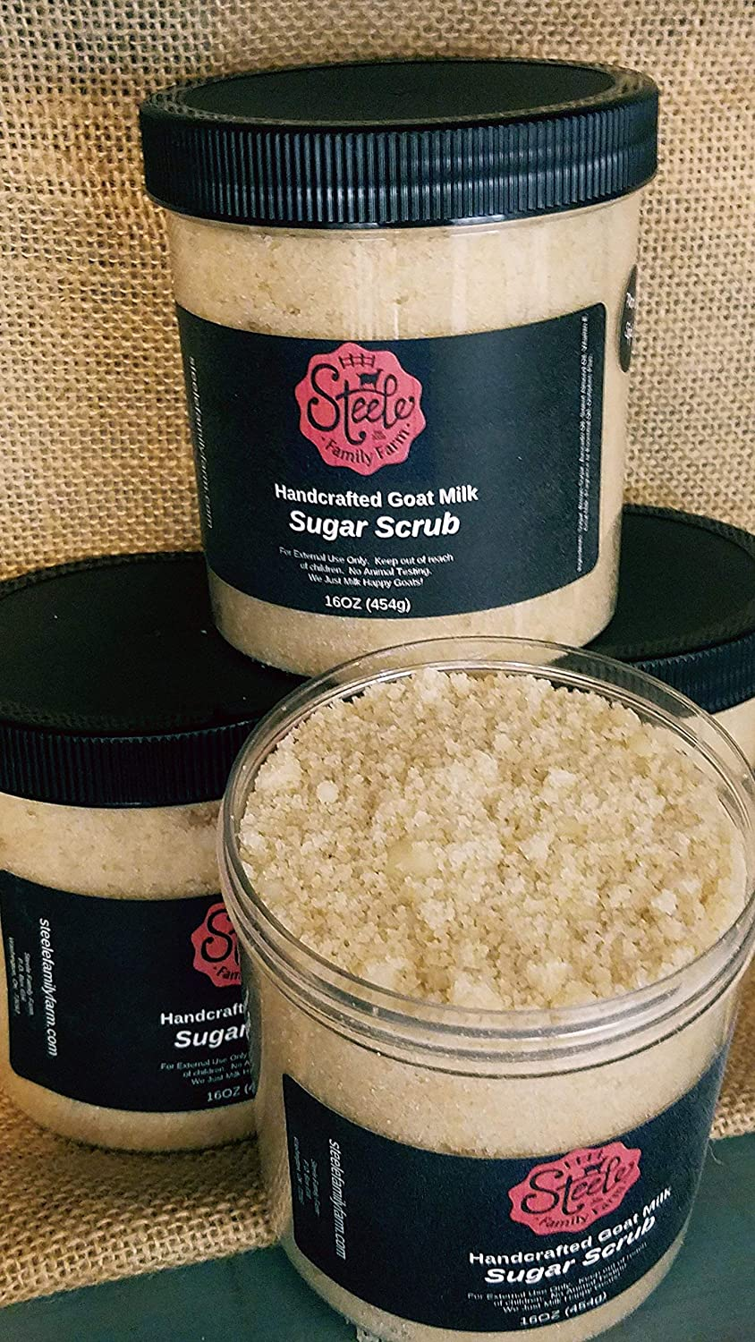 Handcrafted Goat Milk Sugar Scrub - 16oz