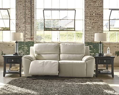 Ashley Furniture Signature Design – Valeton Reclining Sofa – Power Recliner Couch – Contemporary Style – Cream