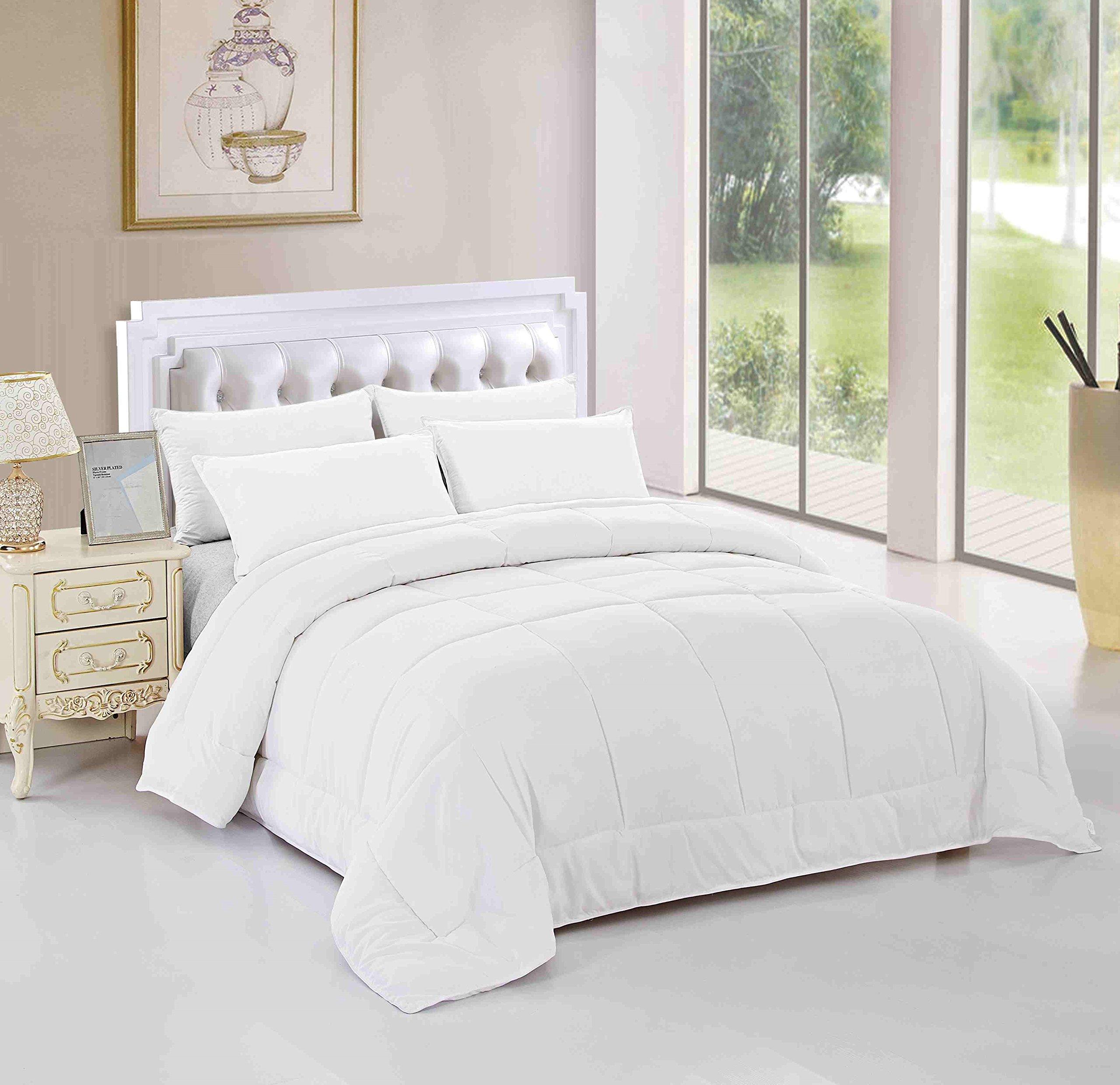 Unique Home All Season Alternative Goose Down Comforter Plush Fiberfill Duvet Insert All Sizes Twin / Twin XL / Queen / King