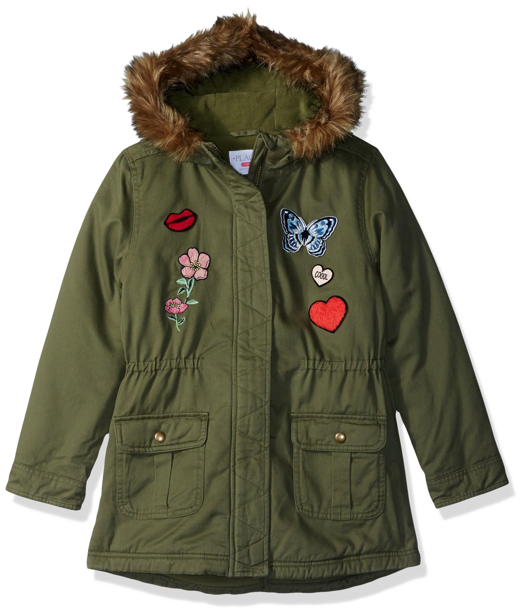 The Children's Place Big Girls' Winter Jacket, Dark Stinger 86215, L (10/12)