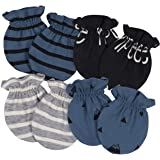 Organic Cotton Rib No Scratch Mittens Baby Boy 4pk