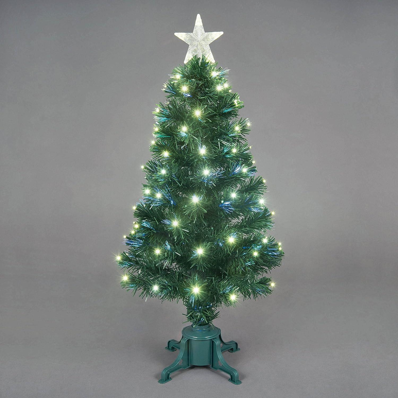 3ft Fibre Optic Saturn Christmas Tree with Warm White LEDs