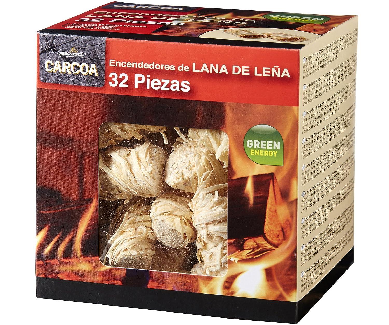 Carcoa Fuego 0326 - Pastillas de Lana de leña FSC...