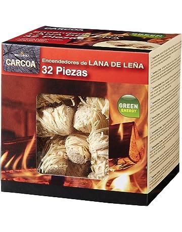 Carcoa Fuego 0326 Pastillas de Lana de Leña FSC 100% Rojo 14x14.3x12.