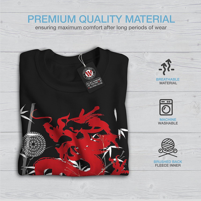 Asia Casual Jumper wellcoda Fantasy Dragon Mystic Mens Sweatshirt