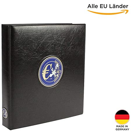 SAFE 7340 Euro Münzen Sammelalbum aller Länder - Premium Münzsammelalbum - Euromünzalbum- für Deine Coin Collection 1 Cent bi