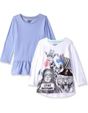 c359a2ad3 Amazon Brand - Spotted Zebra Girls' Toddler & Kids 2-Pack Long-Sleeve