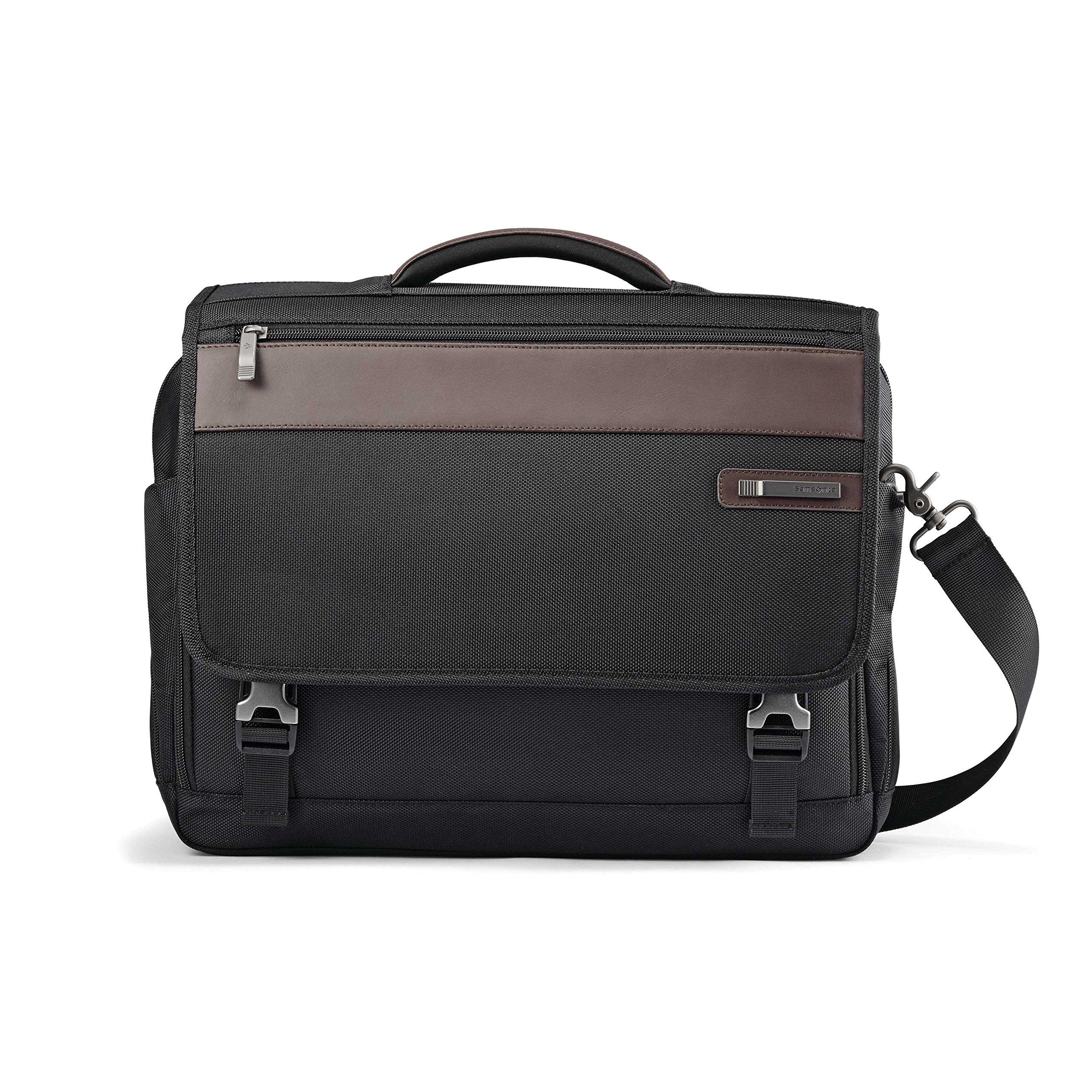 Samsonite Kombi Flapover Briefcase, Black/Brown by Samsonite (Image #2)