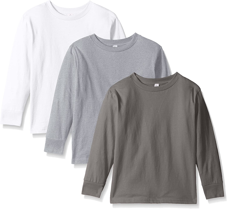Clementine Apparel Girls Long Sleeve Basic Tee 3pack T-Shirt