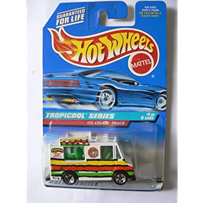 Hot Wheels Tropicool Series #1 of 4 Ice Cream Truck with Fruit Tampo on Card Variation Collector #693 W: Toys & Games