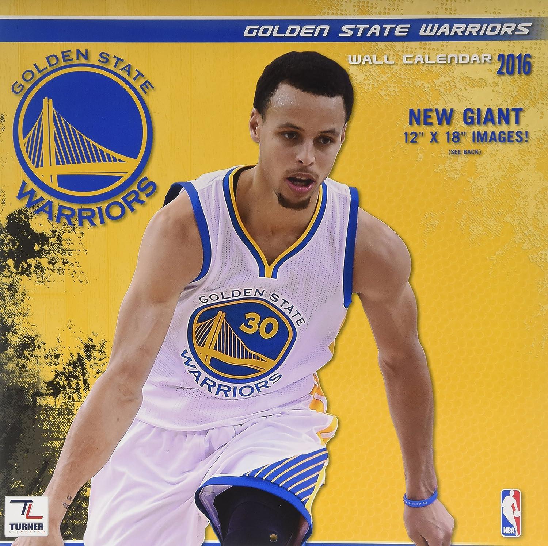 Turner 8011878 Golden State Warriors 2016 Team Wall Calendar, September 2015 - December 2016, 12 X 12-Inch