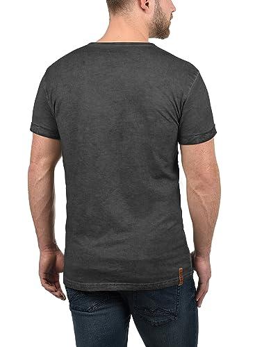 !Solid Tinny Camiseta Básica De Manga Corta T-Shirt para Hombre con V-Neck De 100% Algodón K50OwJb