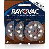 RAYOVAC Size 312 Hearing Aid Batteries, 24-Pack, L312ZA-24ZMB