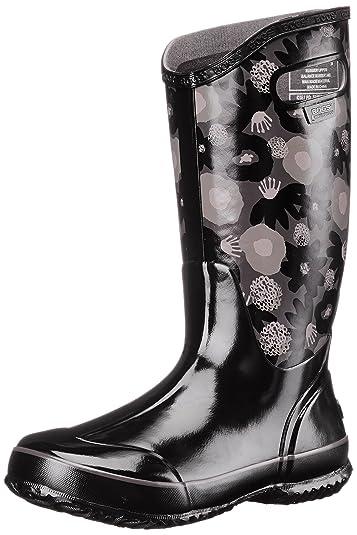Women's Bogs Watercolor Rain Boot Gray Multi Boots (Black Multi)