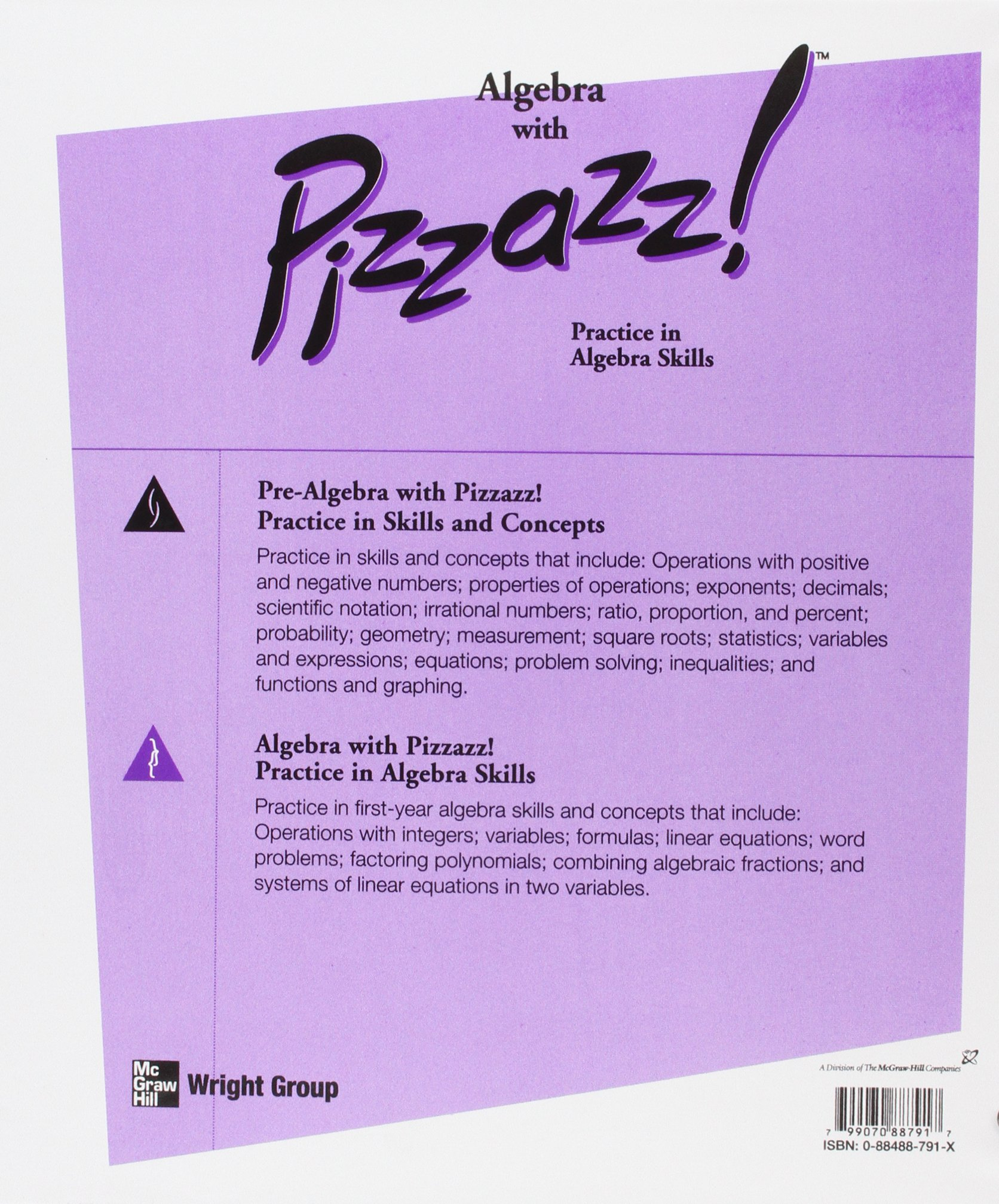 Amazon Algebra With Pizzazz Practice Exercises for the – Algebra with Pizzazz Worksheets