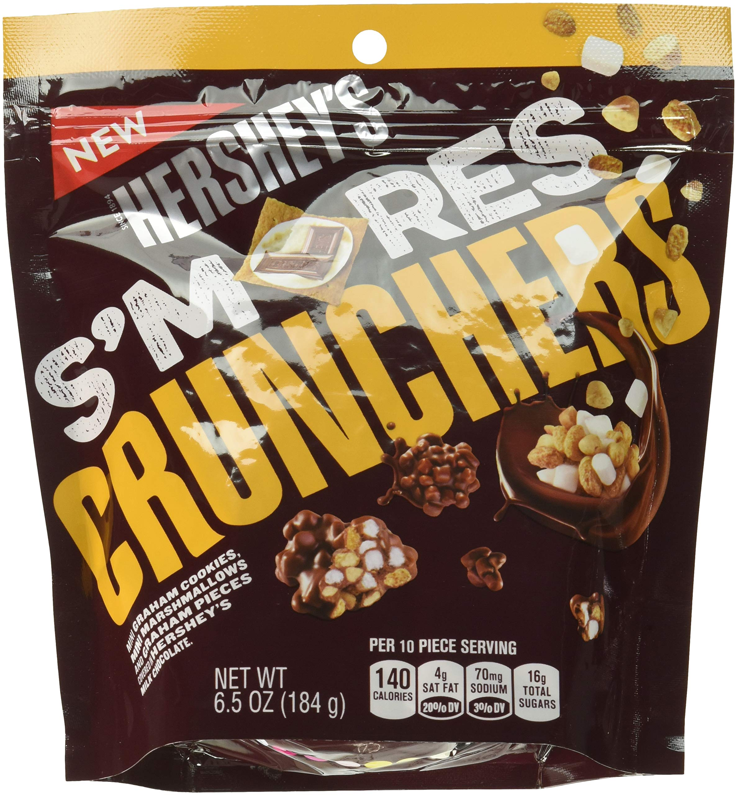 Hershey's S'mores Crunchers Snacks, 6.5 Ounce (Pack of 8)