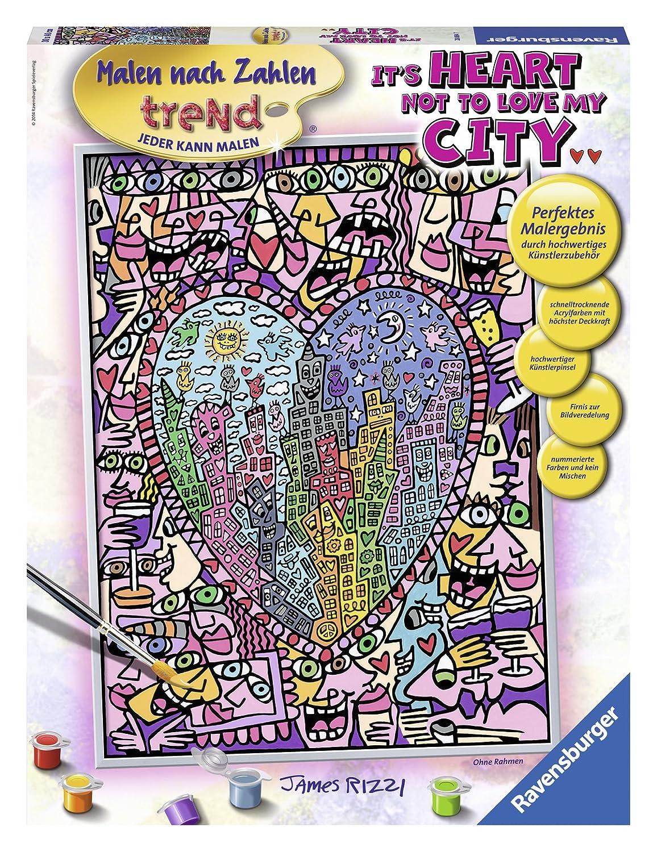 Ravensburger Spieleverlag James Rizzi Heart not to love my city Malen nach Zahlen 30 x 40 cm Amazon Spielzeug