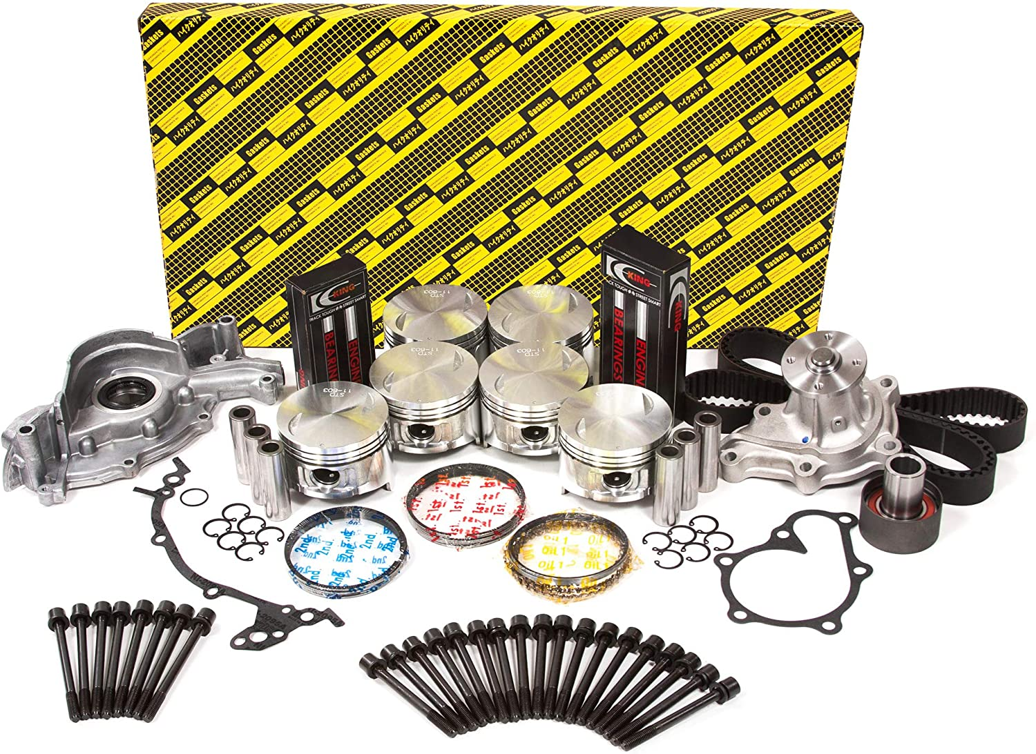 Evergreen OK3009AM//2//1//1 Fits 84-86 Nissan 300ZX non-Turno 2.4L SOHC KA24E 12V Master Overhaul Engine Rebuild Kit
