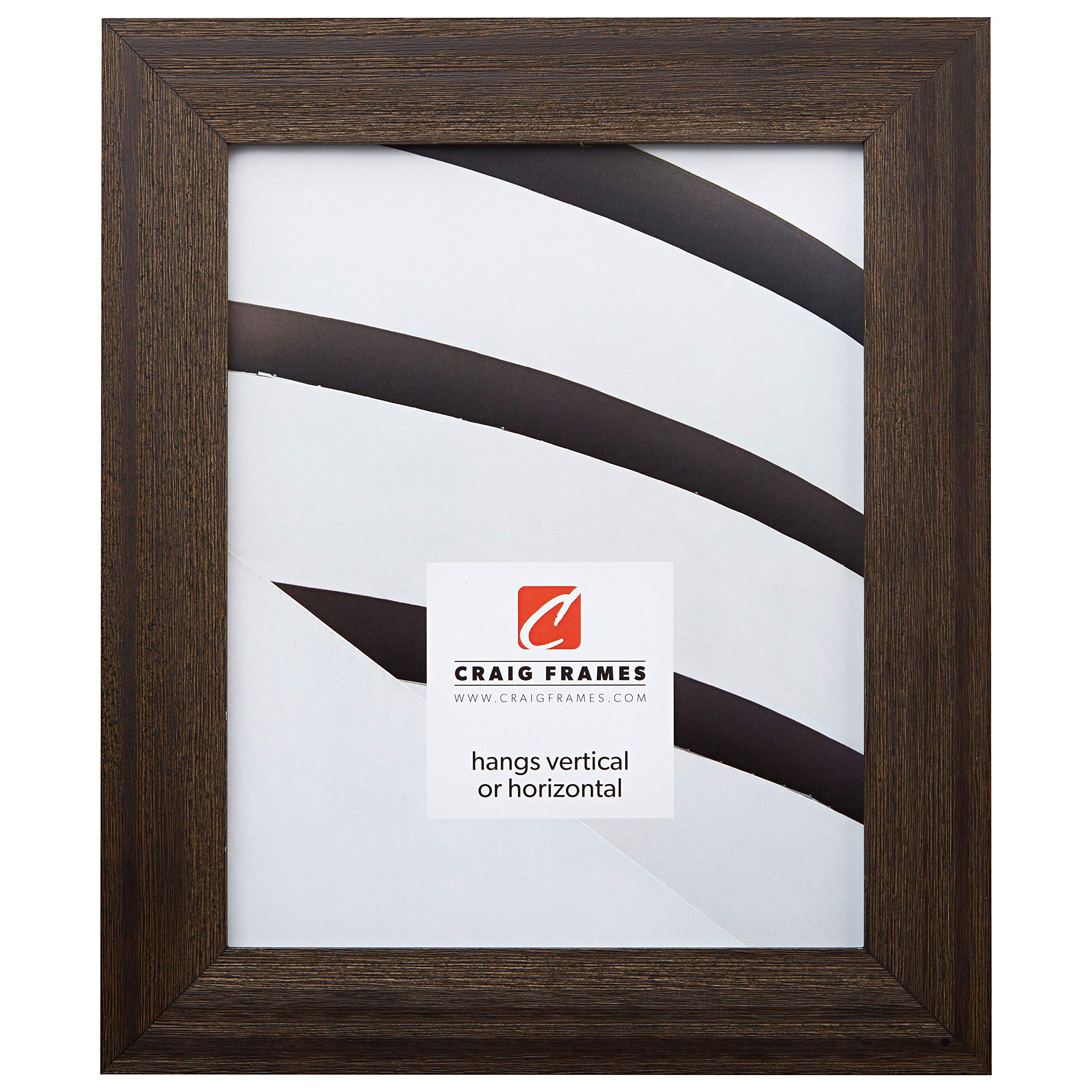 Craig Frames 15DRIFTWOODBK 22 by 34-Inch Picture Frame, Wood Grain Finish, 1.5-Inch Wide, Distressed Black