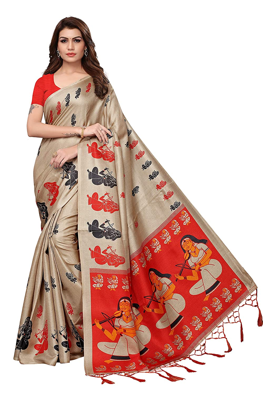 ANNI DESIGNER Cotton Saree with Blouse Piece
