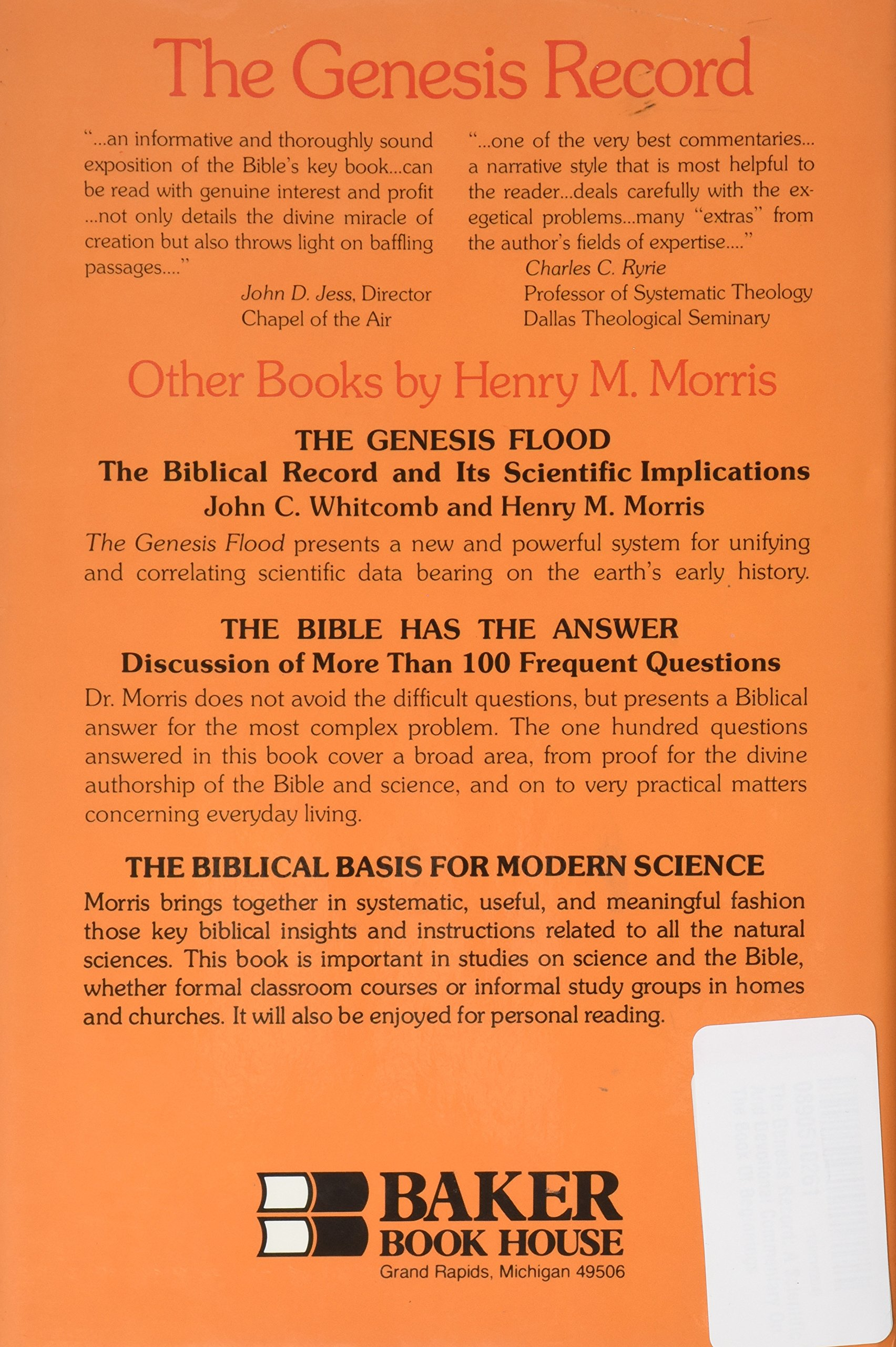 THE GENESIS RECORD HENRY MORRIS PDF