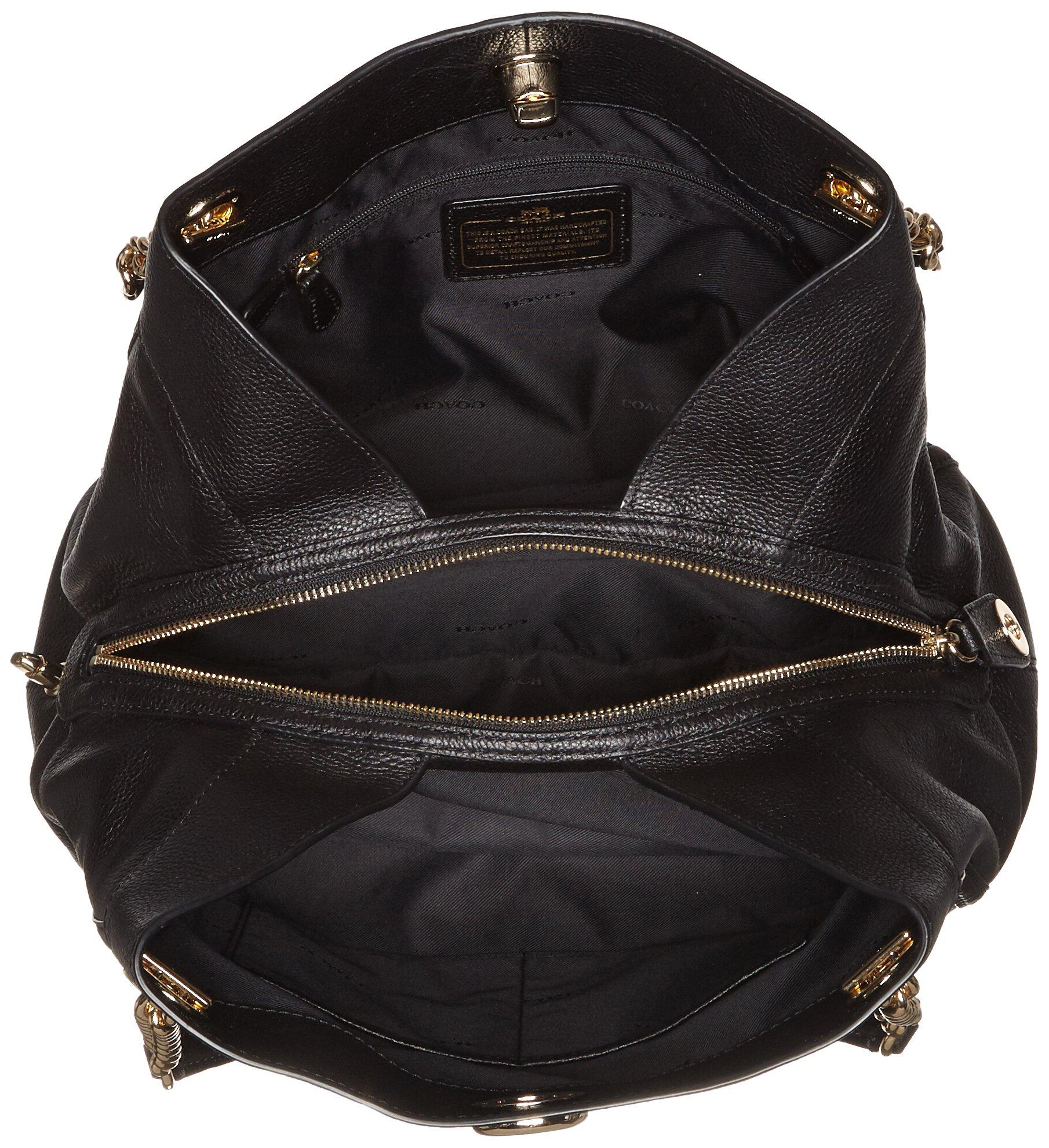 COACH Women's Turnlock Edie LI/Black Shoulder Bag by Coach (Image #5)