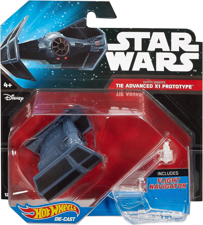 Star Wars Hot Wheels Darth Vader Tie Advanced X1 Prototype w// Stand M