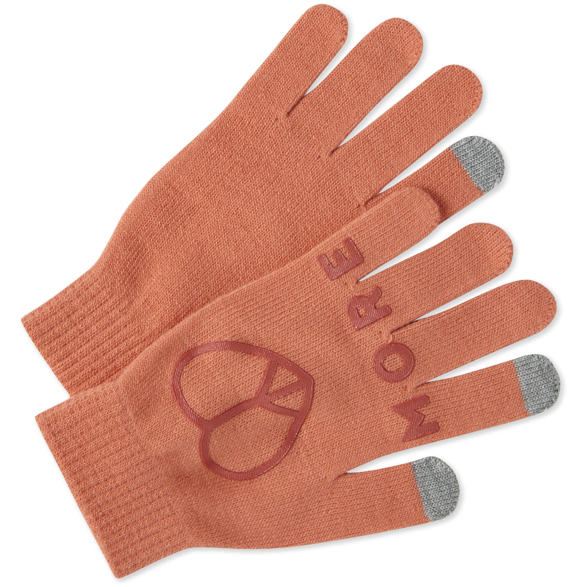 Life is Good W Texting Love Gloves, Fresh Coral, One Size