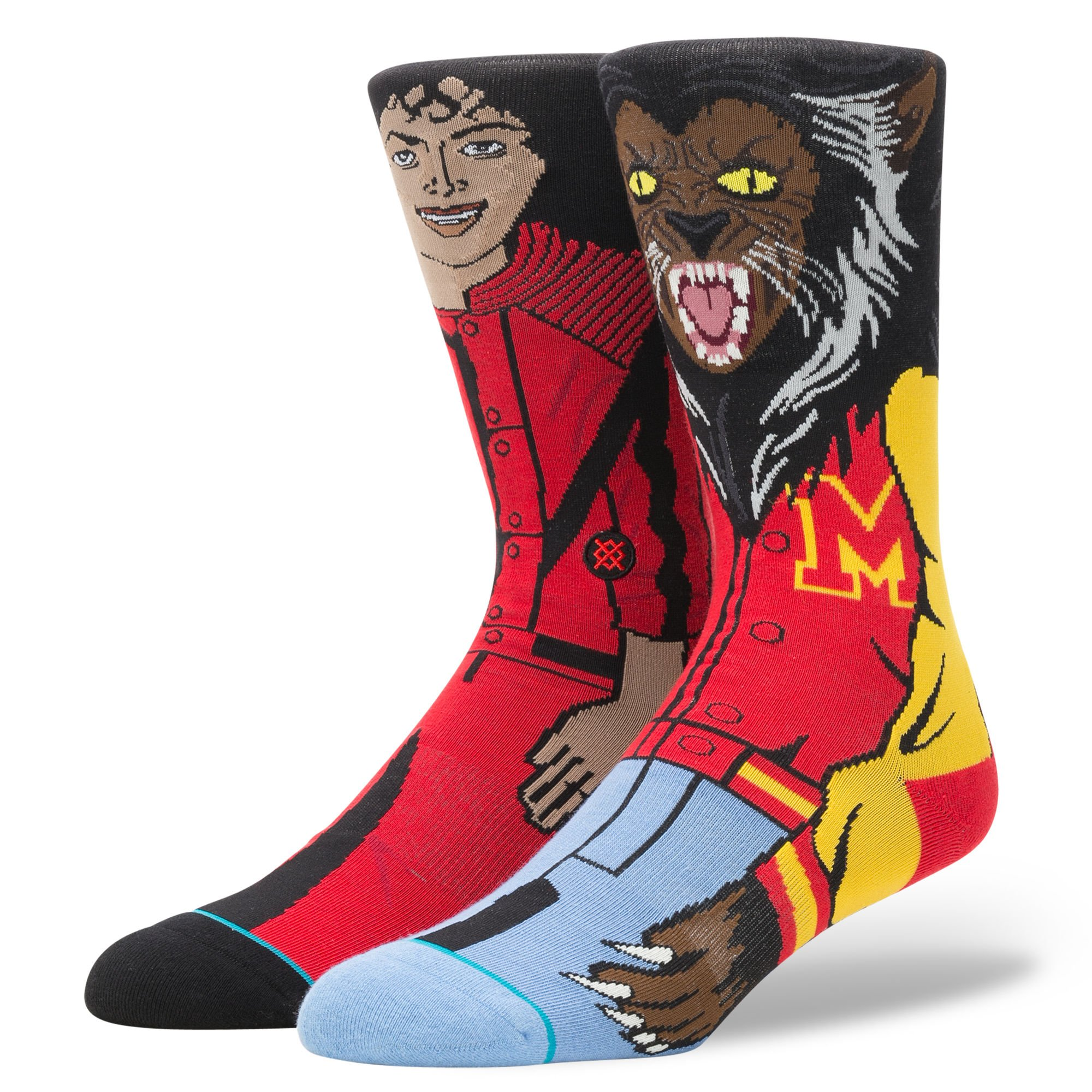 Stance Men's Michael Jackson Socks (Red, Large) by Stance