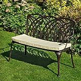 Banc de jardin Grace en aluminium - design \'Fer Forgé\' - bronze ...