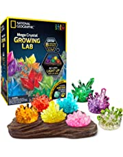 Mega Crystal Growing Lab – 8 Colors to Grow with Night Light Display Stand!