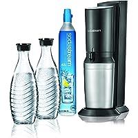 SodaStream Crystal Bruiswatertoestel Zwart - Mega Pack - Zelf Bruisend Water Maken In Enkele Seconden - 2 Glazen…
